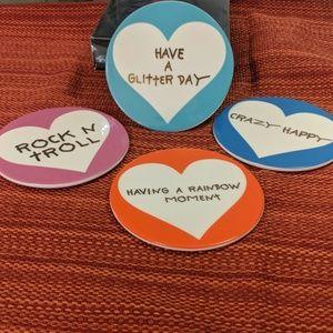 Betsey Johnson xox set of coasters
